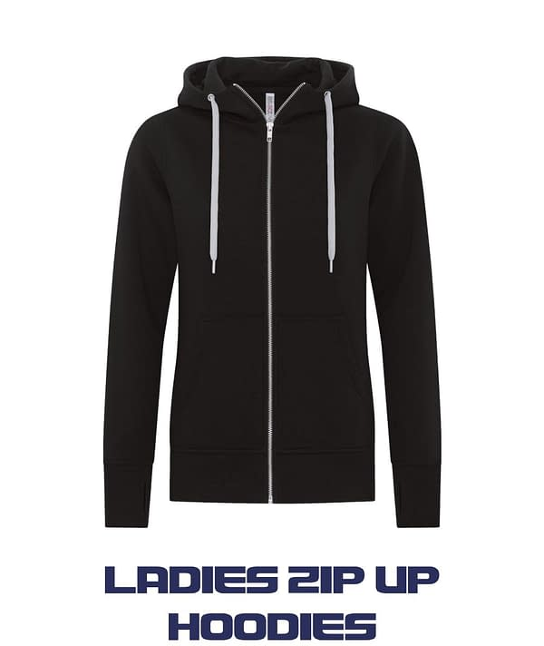 Ladies Zip up Hoodies